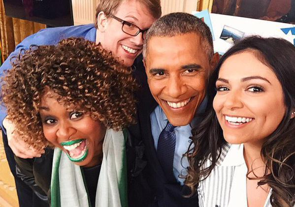 YouTube Stars Bethany Mota, GloZell Green And Hank Green Interview President Obama