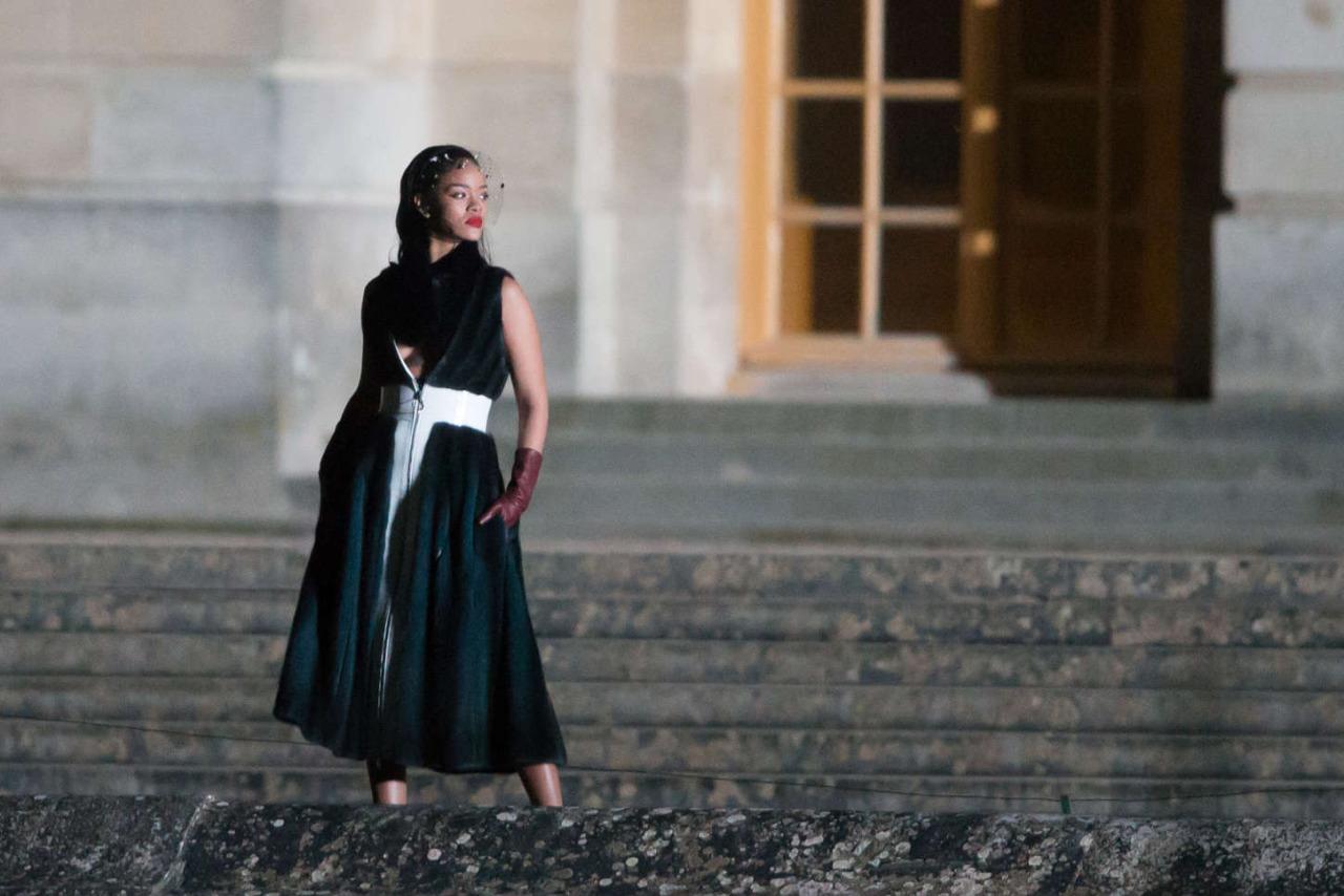 Wardrobe Breakdown: Rihanna On Set Of Dior's 'Secret Garden' Video