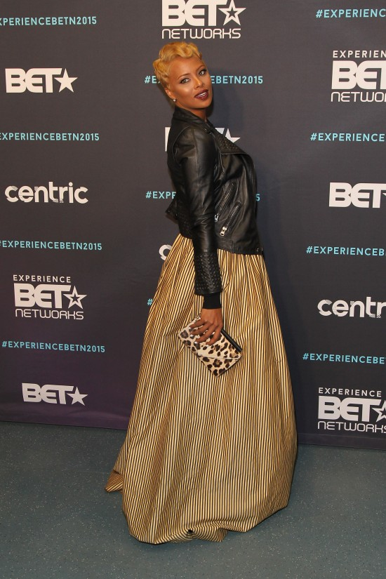 NEW YORK, NY - APRIL 23:  Actress Eva Marcille attends the BET New York Upfronts on April 23, 2015 in New York City.  (Photo by Bennett Raglin/BET/Getty Images for BET)