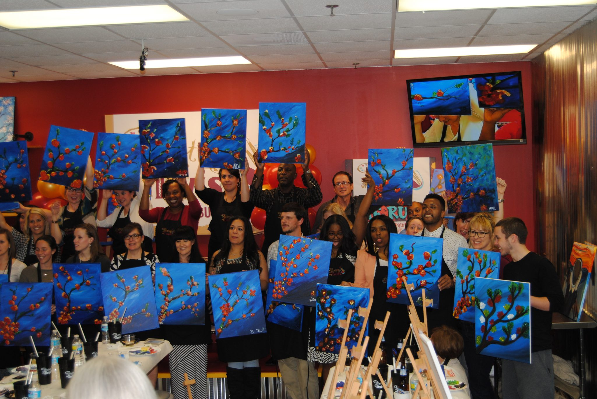 Painting With A Twist Grand Opening In Buckhead