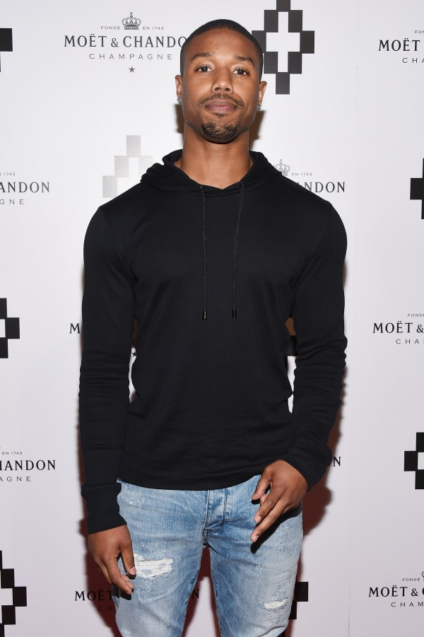 NEW YORK, NY - JUNE 03:  Actor Michael B. Jordan attends the Moet Nectar Imperial Rose x Marcelo Burlon Launch Event on June 3, 2015 in New York City.  (Photo by Andrew H. Walker/Getty Images for Moet)