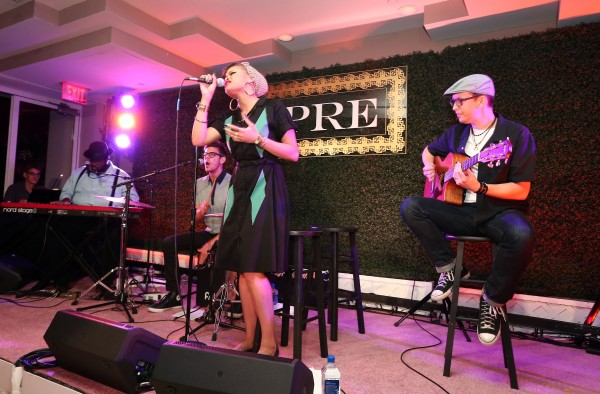 LOS ANGELES, CA - JUNE 24:  Singer Andra Day performs onstage during the 2015 BET Awards Debra Lee Pre-Dinner at Sunset Tower Hotel on June 24, 2015 in Los Angeles, California.  (Photo by Mark Davis/BET/Getty Images for BET)