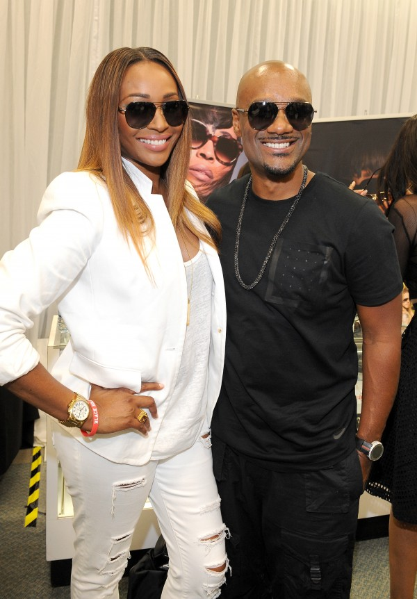 LOS ANGELES, CA - JUNE 27:  TV personality Cynthia Bailey (L) and radio/TV personality Big Tigger attend the BETX gifting suite during the 2015 BET Experience at the Los Angeles Convention Center on June 27, 2015 in Los Angeles, California.  (Photo by Amy Graves/BET/Getty Images for BET)
