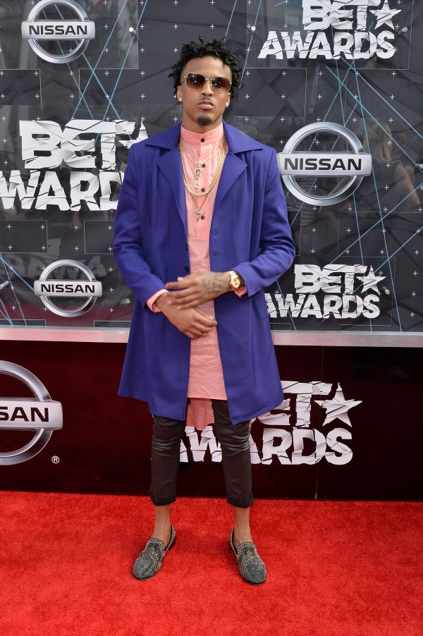 LOS ANGELES, CA - JUNE 28:  Recording artist August Alsina attends the 2015 BET Awards at the Microsoft Theater on June 28, 2015 in Los Angeles, California.  (Photo by Earl Gibson/BET/Getty Images for BET)