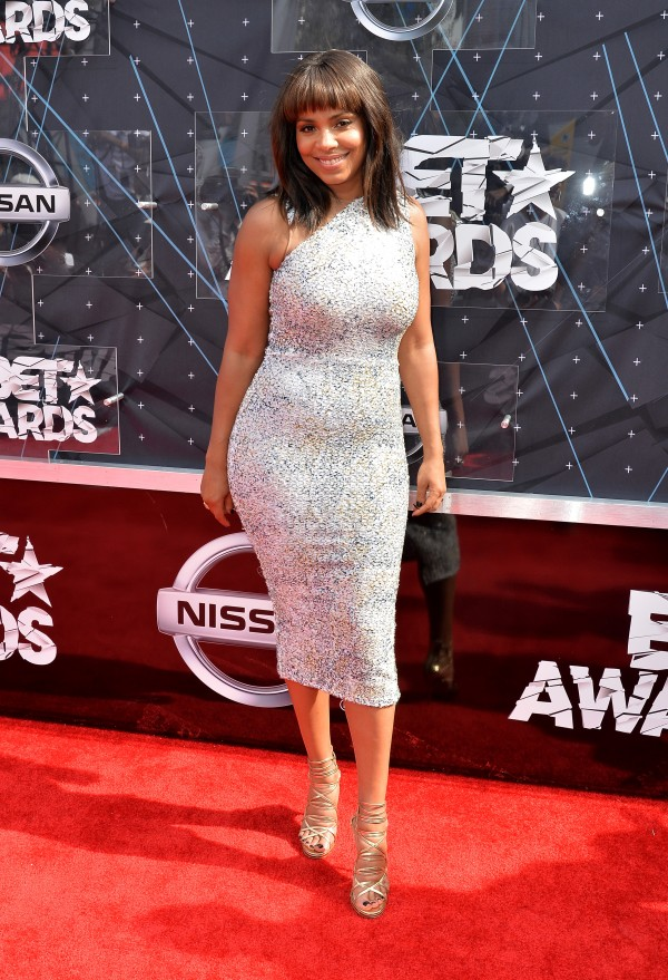 LOS ANGELES, CA - JUNE 28:  Actress Sanaa Lathan attends the 2015 BET Awards at the Microsoft Theater on June 28, 2015 in Los Angeles, California.  (Photo by Earl Gibson/BET/Getty Images for BET)