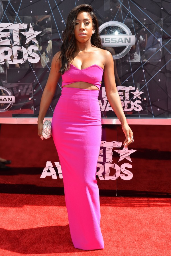 LOS ANGELES, CA - JUNE 28:  Recording artist Sevyn Streeter attends the 2015 BET Awards at the Microsoft Theater on June 28, 2015 in Los Angeles, California.  (Photo by Earl Gibson/BET/Getty Images for BET)