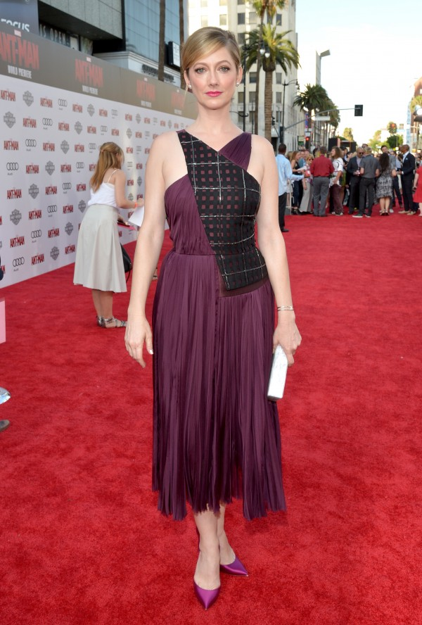 "LOS ANGELES, CA - JUNE 29:  Actress Judy Greer attends the world premiere of Marvel's ""Ant-Man"" at The Dolby Theatre on June 29, 2015 in Los Angeles, California.  (Photo by Charley Gallay/Getty Images) *** Local Caption *** Judy Greer"