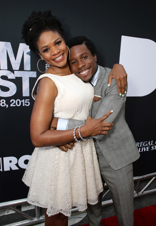 """Kimberly Elise and Shameik Moore seen at Open Road Films Los Angeles Premiere of """"Dope"""" in partnership with the LA Film Fest on Monday, June 8, 2015, in Los Angeles. (Photo by Eric Charbonneau/Invision for Open Road Films/AP Images)"""