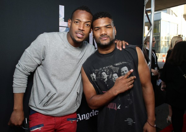"""Marlon Wayans and Damien Wayans seen at Open Road Films Los Angeles Premiere of """"Dope"""" in partnership with the LA Film Fest on Monday, June 8, 2015, in Los Angeles. (Photo by Eric Charbonneau/Invision for Open Road Films/AP Images)"""