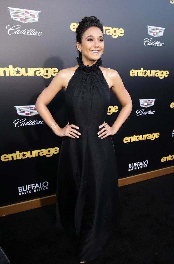 "Emmanuelle Chriqui seen at Warner Bros. Premiere of ""Entourage"" held at Regency Village Theatre on Monday, June 1, 2015, in Westwood, Calif. (Photo by Eric Charbonneau/Invision for Warner Bros./AP Images)"
