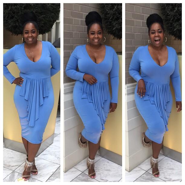 My Style: Cascading Ruffle Bodycon Dress
