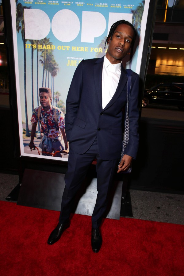 """EXCLUSIVE - A$AP Rocky seen at Open Road Films Los Angeles Premiere of """"Dope"""" in partnership with the LA Film Fest on Monday, June 8, 2015, in Los Angeles. (Photo by Eric Charbonneau/Invision for Open Road Films/AP Images)"""