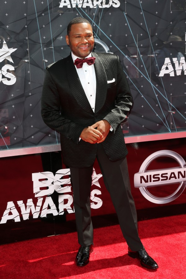LOS ANGELES, CA - JUNE 28:  Co-host Anthony Anderson attends the 2015 BET Awards at the Microsoft Theater on June 28, 2015 in Los Angeles, California.  (Photo by Frederick M. Brown/Getty Images for BET)