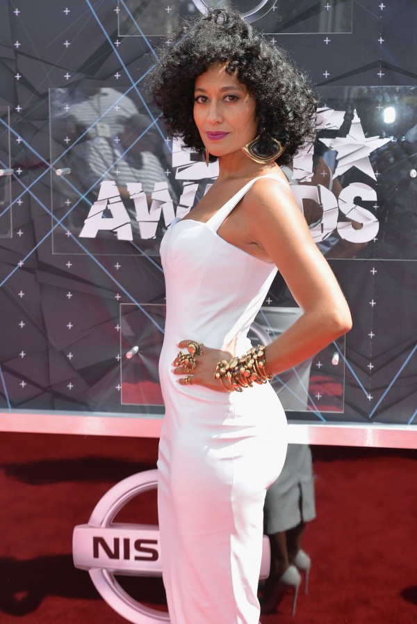 LOS ANGELES, CA - JUNE 28:  Host Tracee Ellis Ross attends the 2015 BET Awards at the Microsoft Theater on June 28, 2015 in Los Angeles, California.  (Photo by Earl Gibson/BET/Getty Images for BET)