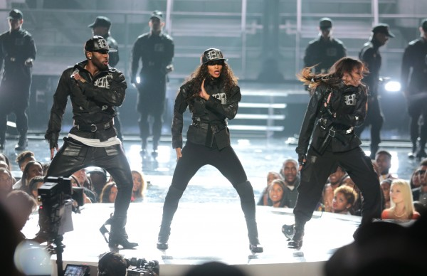 LOS ANGELES, CA - JUNE 28:  (L-R) Recording artists Jason Derulo, Ciara and Tinashe perform onstage during the 2015 BET Awards at the Microsoft Theater on June 28, 2015 in Los Angeles, California.  (Photo by Mark Davis/BET/Getty Images for BET)