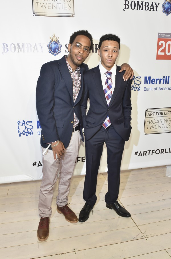 WATER MILL, NY - JULY 18:  JoJo Simmons and Russell Simmons Jr. attend as RUSH Philanthropic Arts Foundation Celebrates 20th Anniversary at Art For Life sponsored by Bombay Sapphire Gin at Fairview Farms on July 18, 2015 in Water Mill, New York.  (Photo by Eugene Gologursky/Getty Images for Bombay Sapphire Gin)