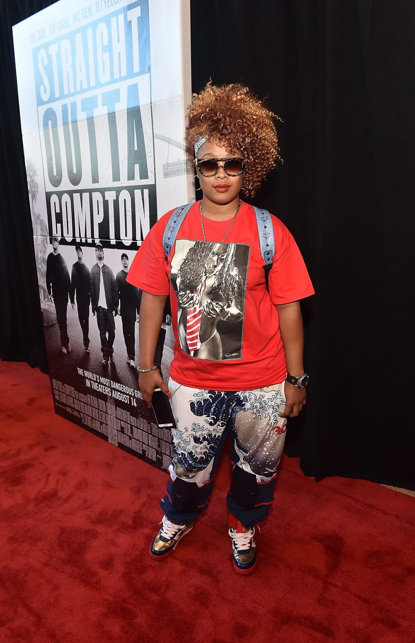 Wardrobe Breakdown: Da Brat At Straight Outta Compton Premiere