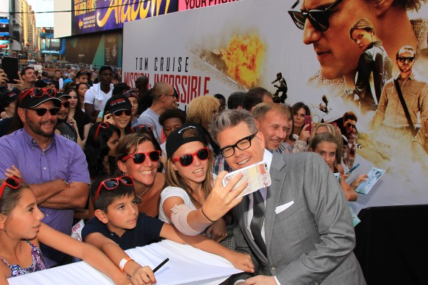 """7/27/15, New York, NY - Christopher McQuarrie (Director; MI5) attends the New York Premiere of """"MISSION: IMPOSSIBLE - ROGUE NATION,"""" from Paramount Pictures and Skydance Productions, in Times Square in New York, NY on Monday, July 27, 2015."""