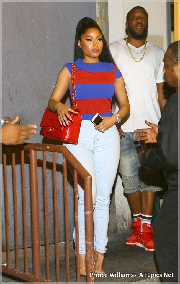 Wardrobe Breakdown: Nicki Minaj At XL Lounge In Atlanta
