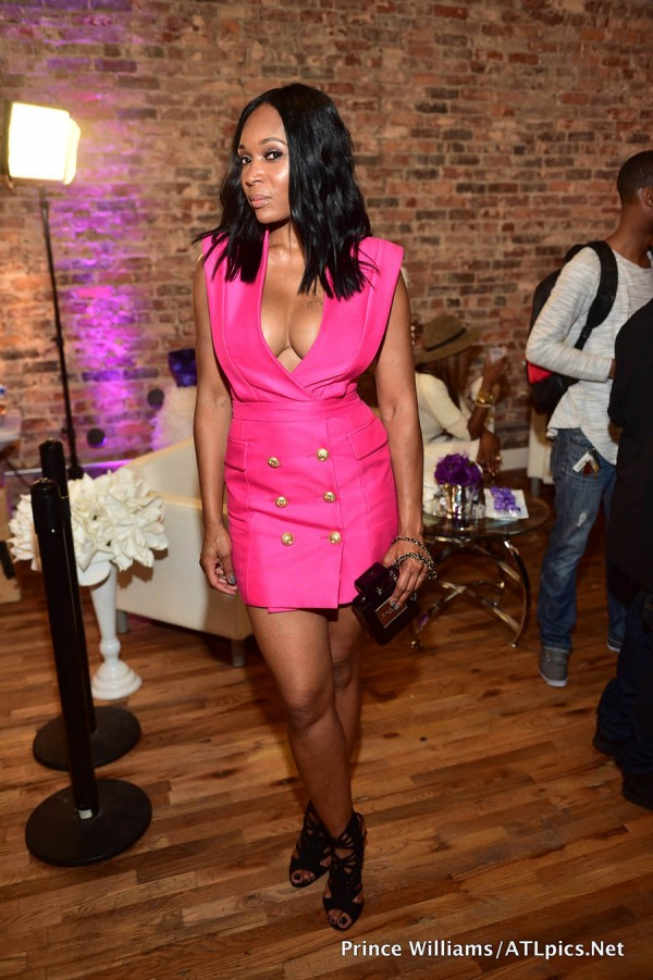kenya moore hair launch