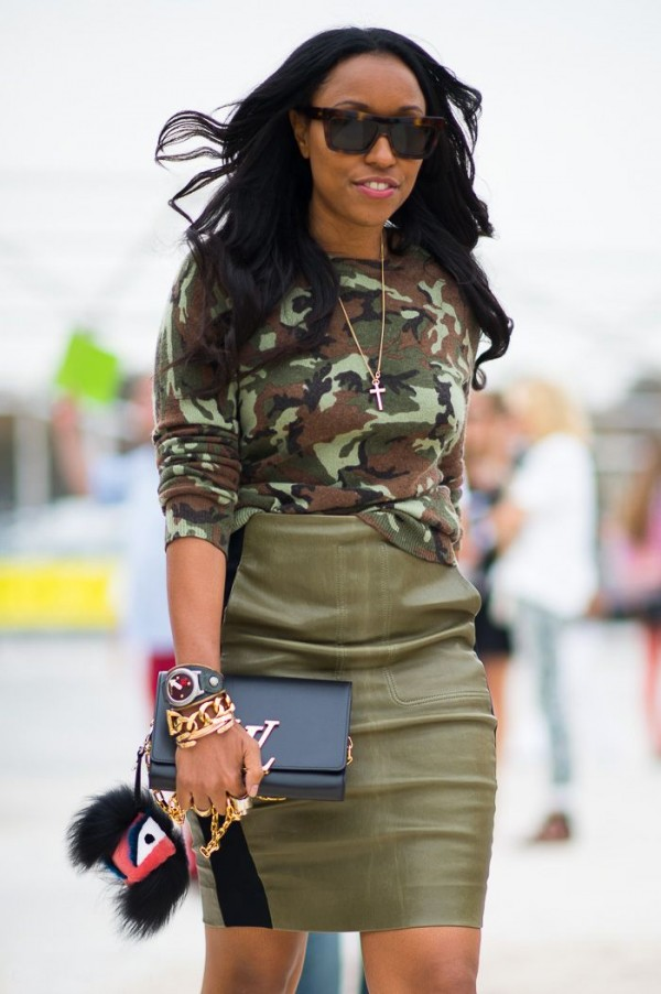 fashion trend military chic
