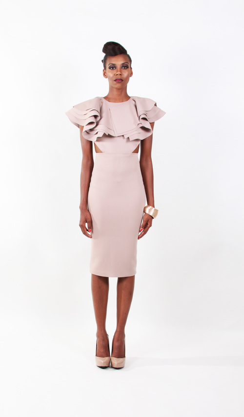 Currently Obsessed With: Wanda Grace's Ruffle Neck Dress