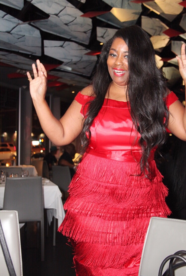 My Style: Red Fringe Gatsby Dress