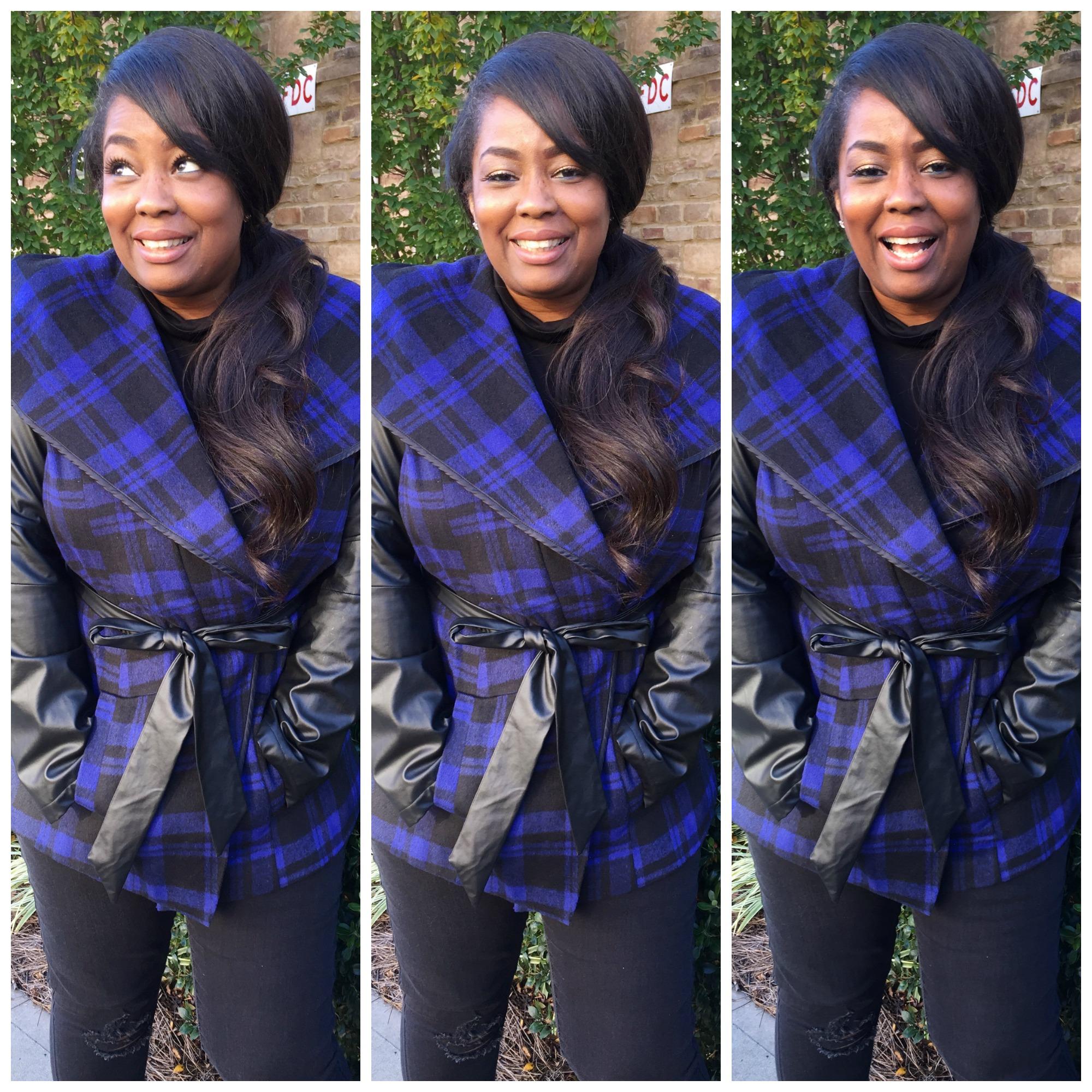 My Style: Plaid Wrap Coat