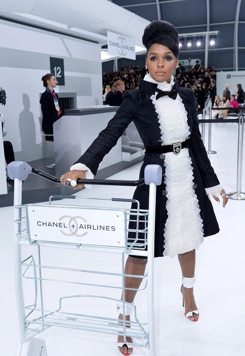 Wardrobe Breakdown: Janelle Monae At Chanel Show In Paris, France