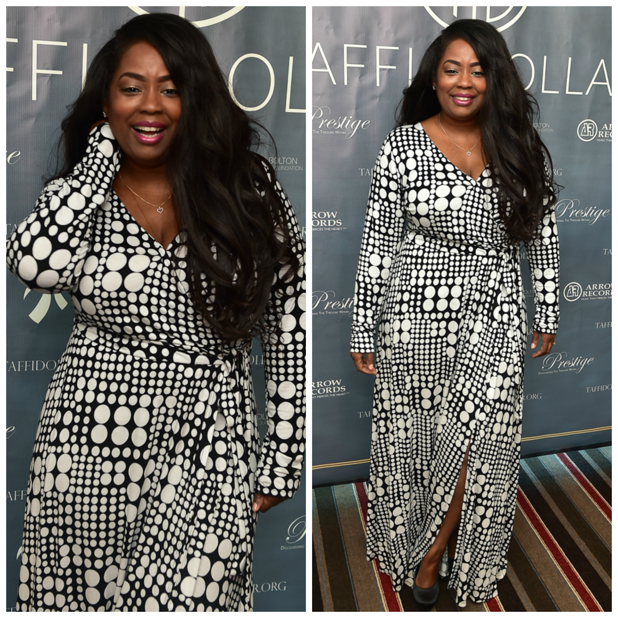 My Style: Chic & Curvy Dotted Wrap Maxi Dress