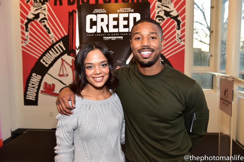Stars Of Movie Creed, Michael B Jordan & Tessa Thompson Visit Big Brothers Big Sisters Of Metro Atlanta
