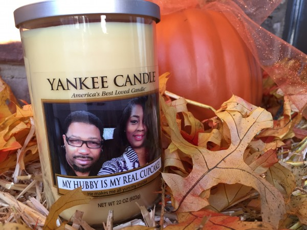 Gift idea yankee candle personalized photo candles