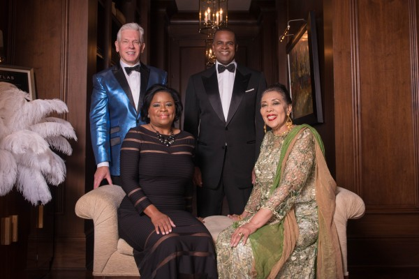 UNCF Mayor's Masked Ball Inside Photo Co-Chairs