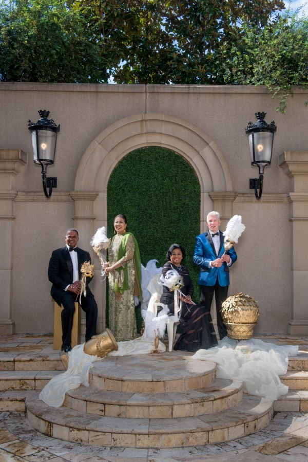 UNCF Mayor's Masked Ball Photo Co-Honorary Chairs Outside