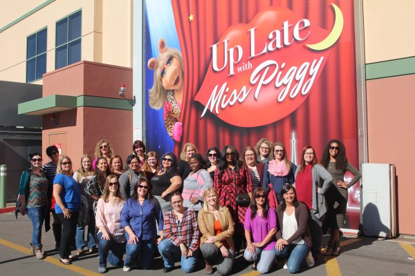 Up Late With Miss Piggy Group Photo