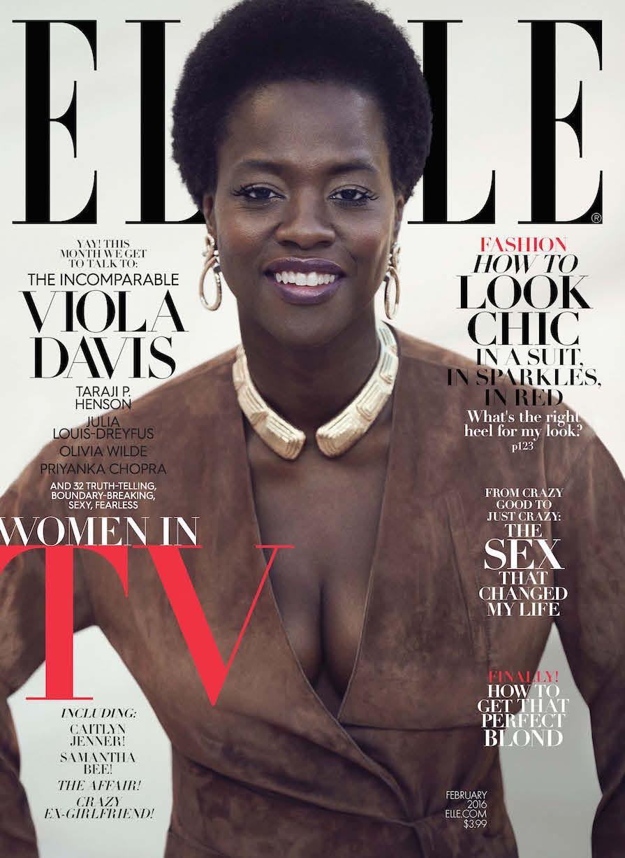 Wardrobe Breakdown: Viola Davis For 'Elle' Magazine