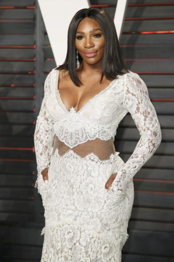 Tennis Superstar Serena Williams Turned Heads Last Night And Was A Vision In White At The Vanity Fair Oscars After Party Known For Her Wins On
