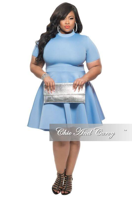 Two ways to rock a 39 scuba skater dress 39 talking with tami for Chic and curvy wedding dress