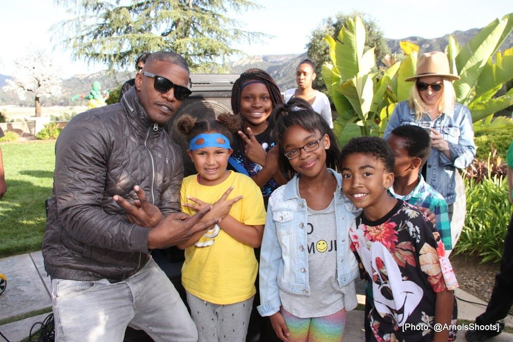 Jamie Foxx & Laura Govan Celebrate TMNT: Out of Shadows In Los Angeles