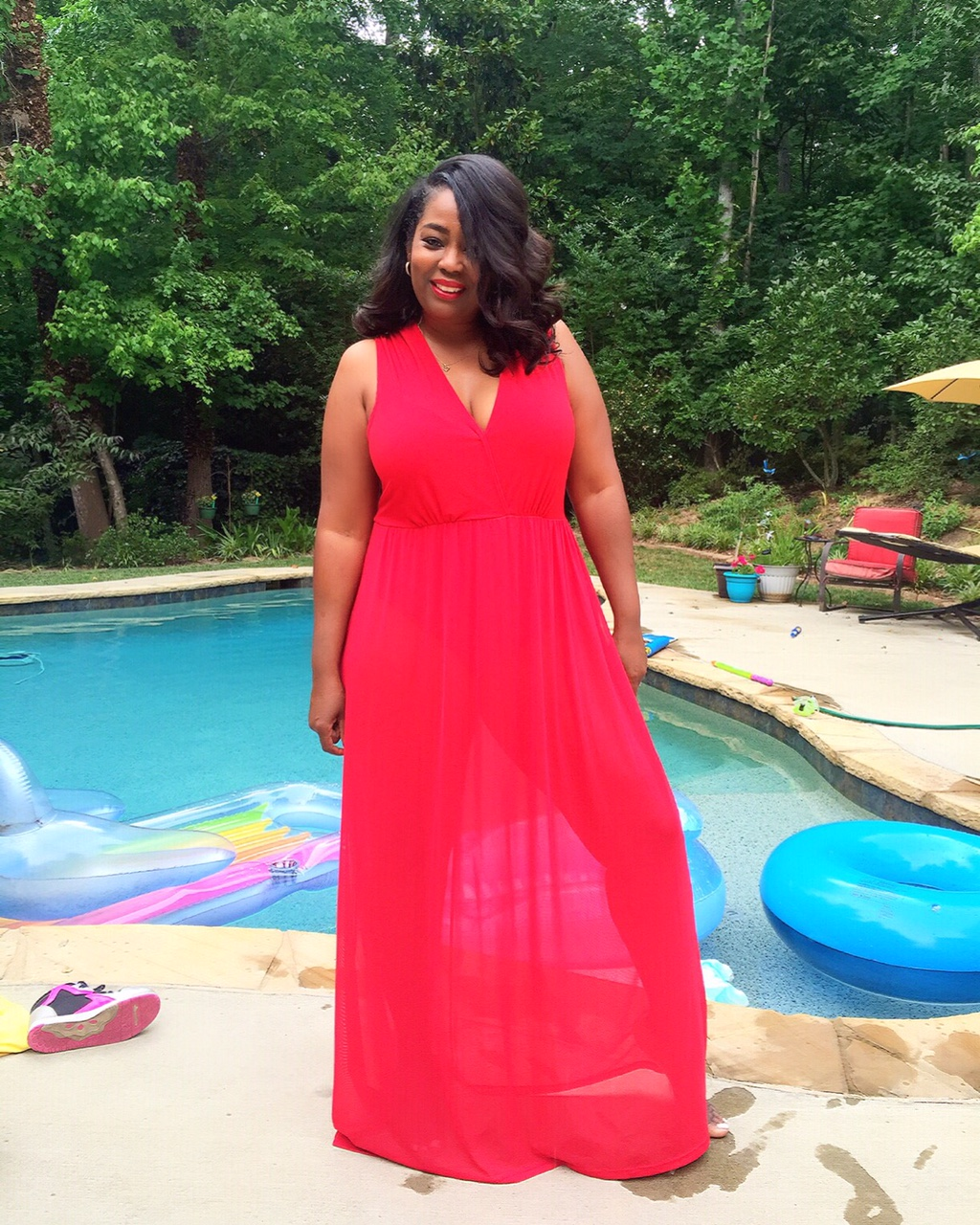 My Style: Chic & Curvy Sheer Maxi Dress