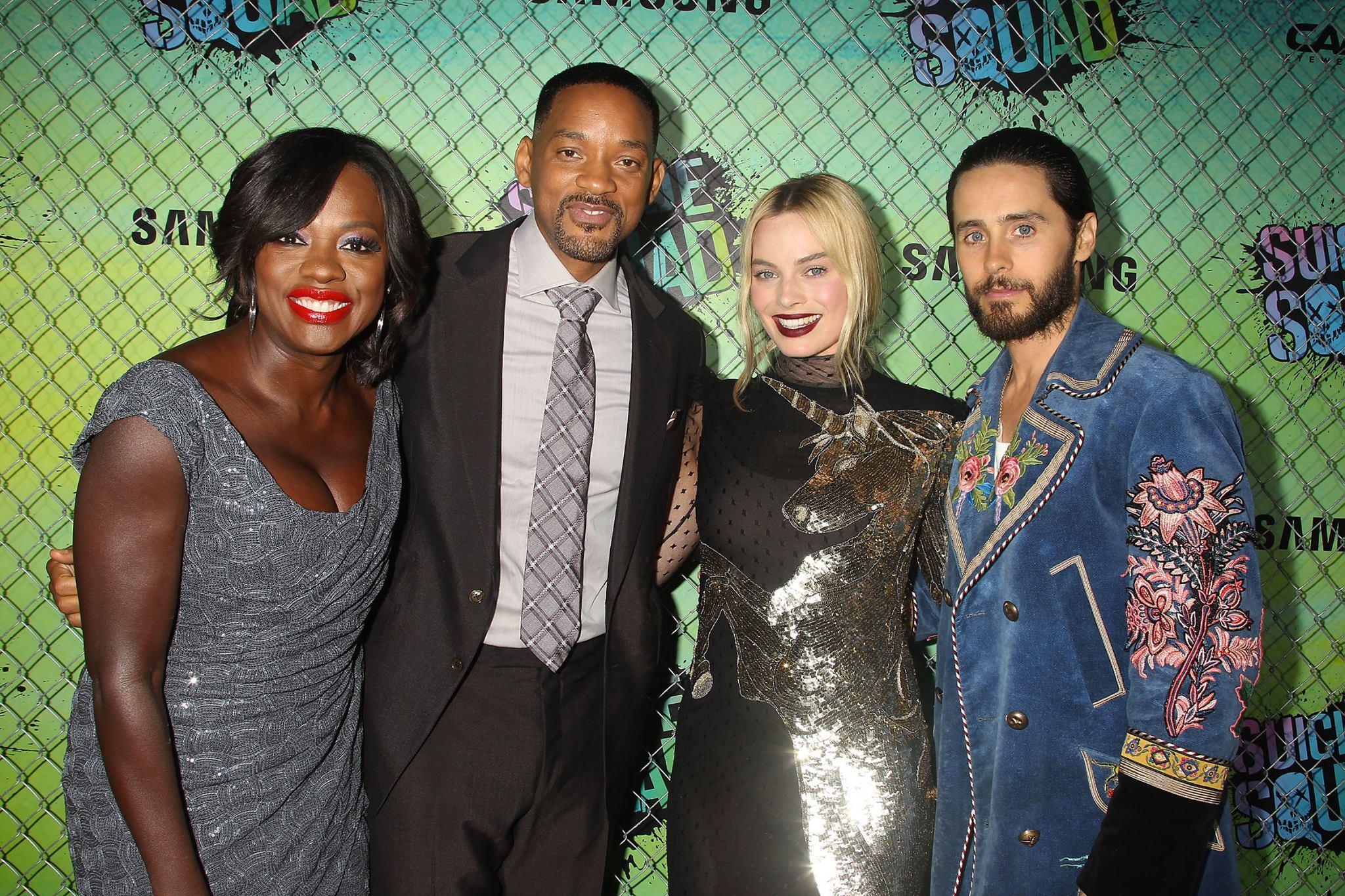 Will & Jaden Smith, Viola Davis & More Attend 'Suicide Squad' NYC Premiere