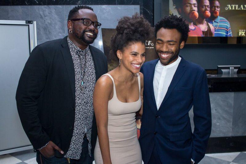 cast of fx s atlanta attend ny screening talking with tami