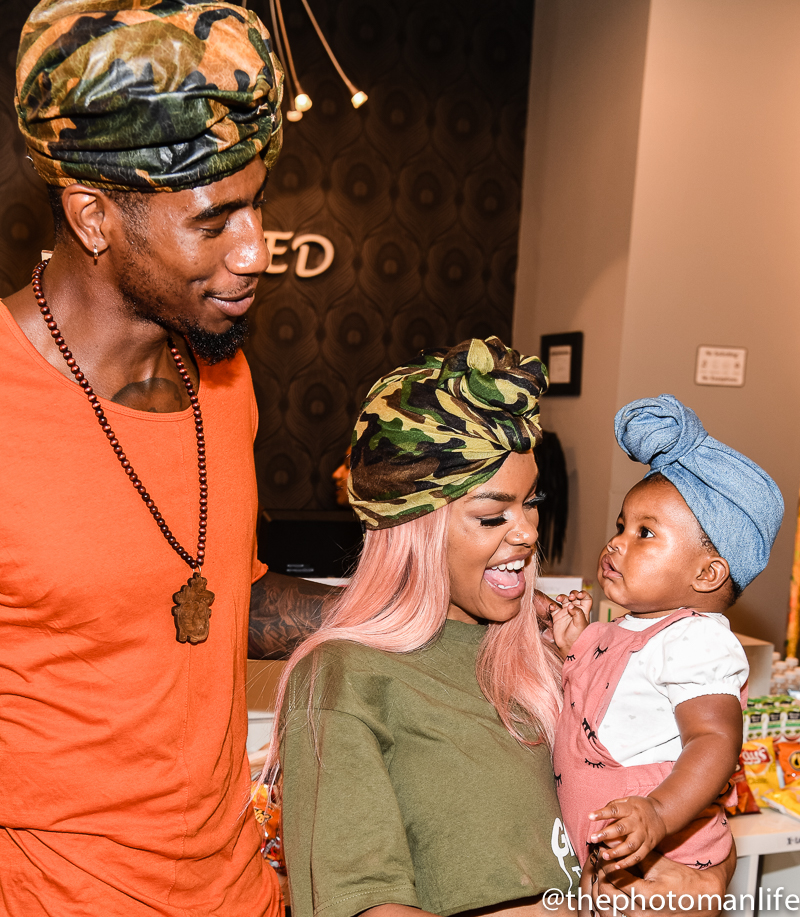 Teyana Taylor & Family Host Private Launch Party At Pressed In ATL