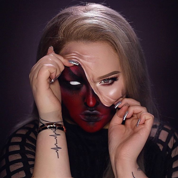 Get The Look: Nikkie Tutorials Pulled Up Skin Halloween Makeup Tutorial