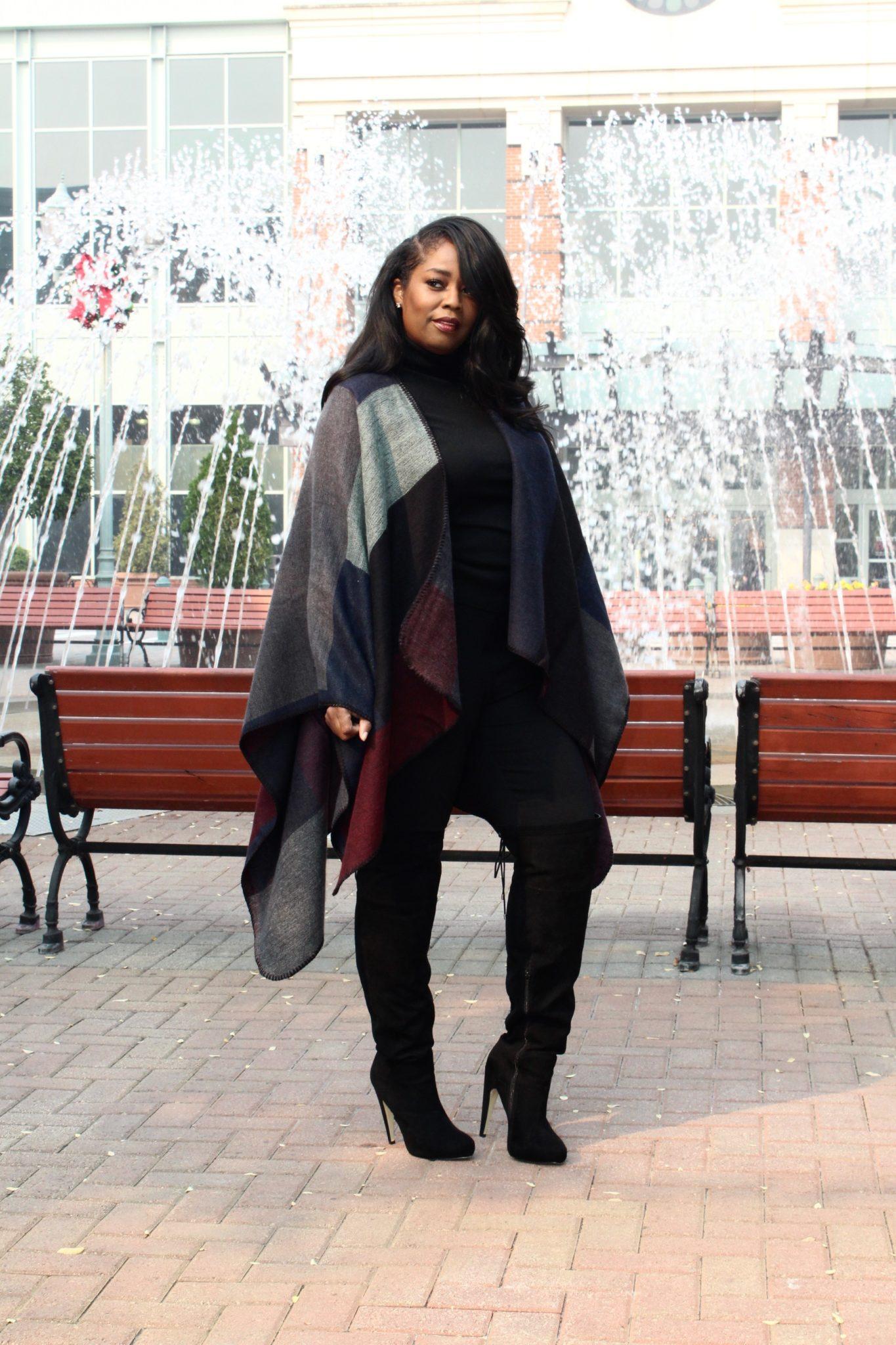 My Style: Block Ruana Poncho