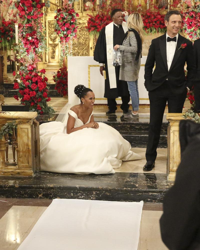 Kerry Washington Wedding: Wardrobe Breakdown: Scandal's Olivia Pope's Wedding Gown