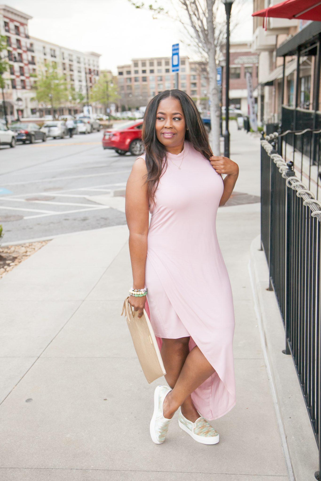 My Style: Sleeveless Slanted Overlay Dress
