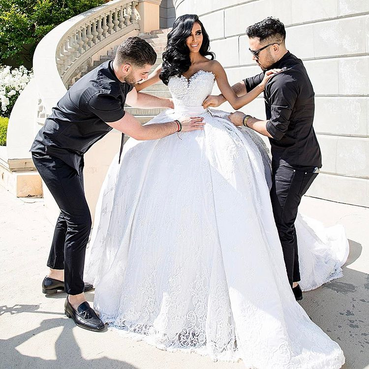 Wardrobe breakdown lilly ghalichi 39 s wedding talking for Ryan and walter wedding dress prices