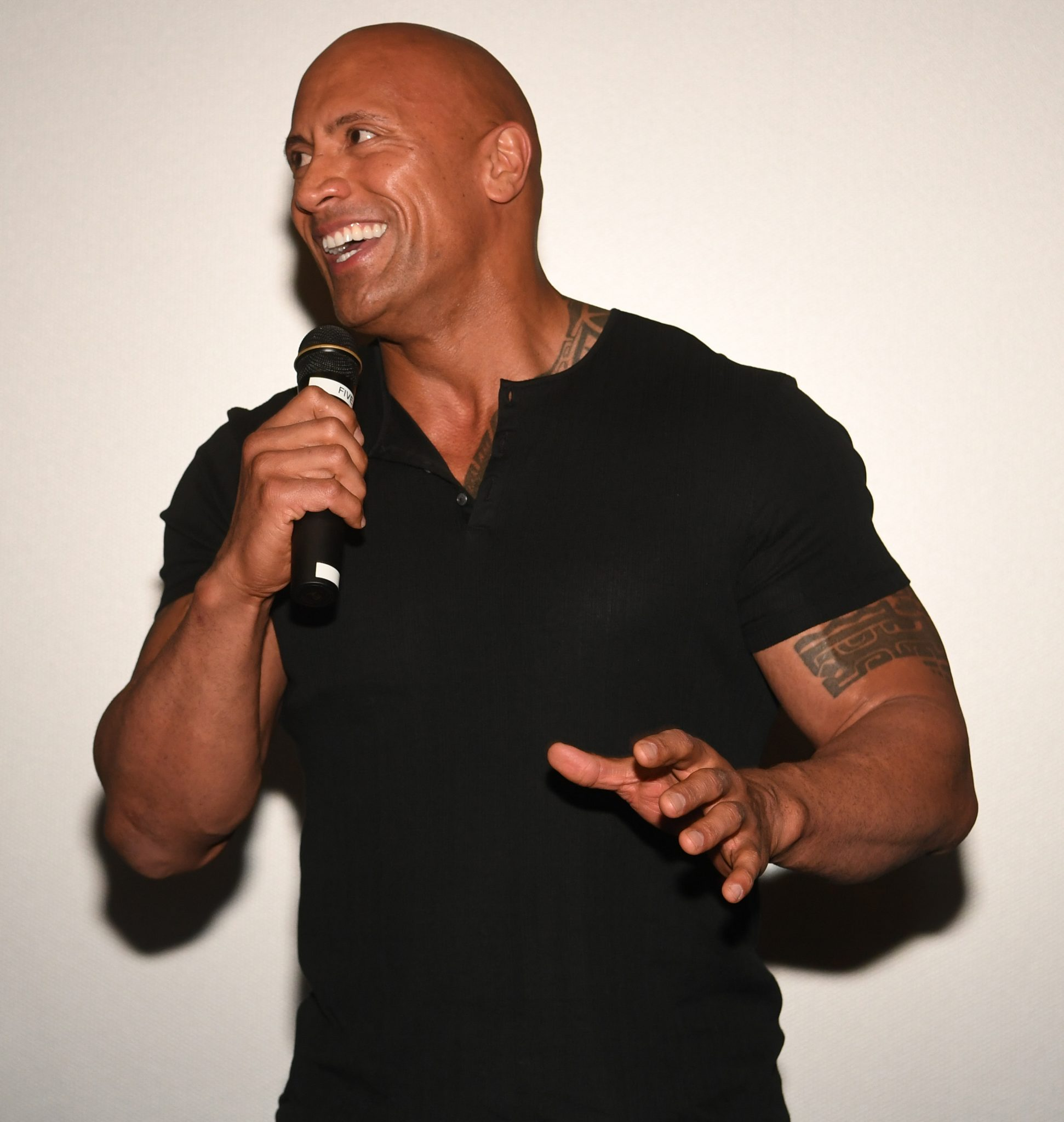 Surprise Visit From Dwayne Johnson At Baywatch Screening In Atlanta