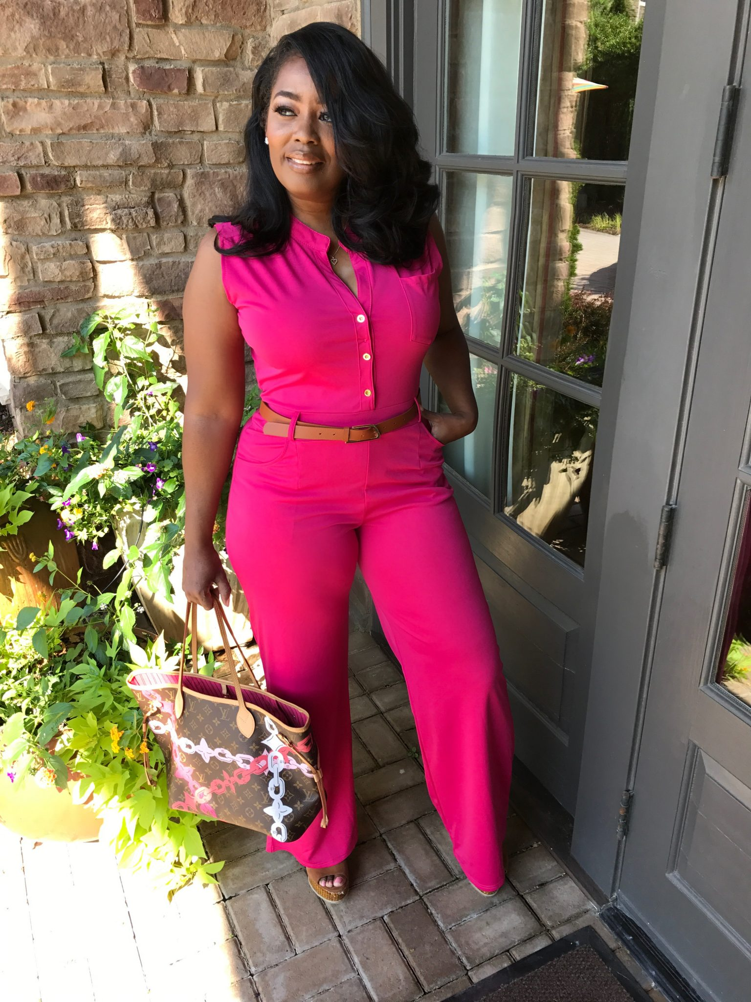 My Style: Hot Pink Jumpsuit
